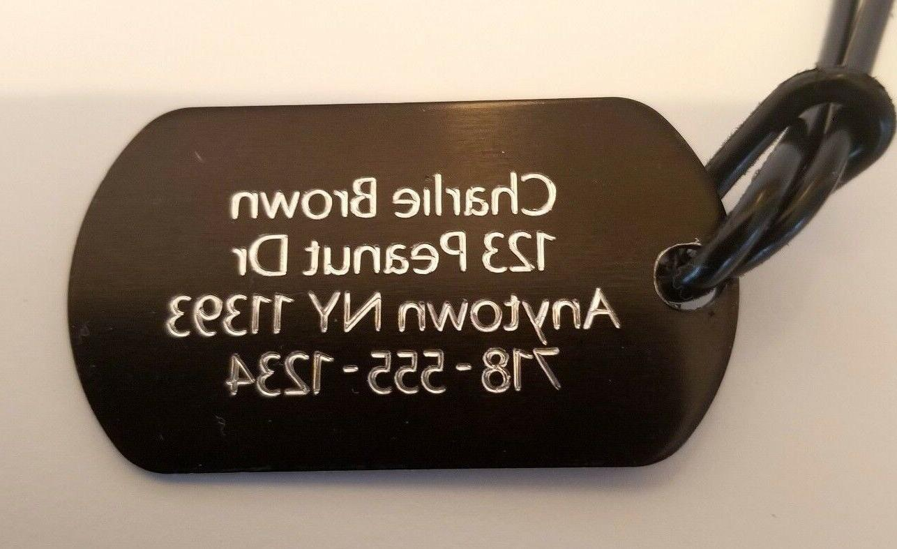 luggage tag 1 id tags double sided