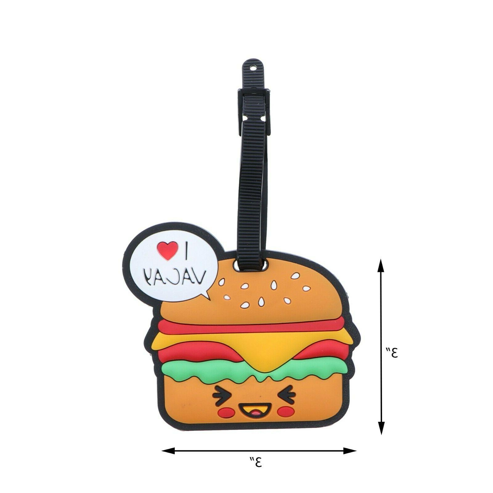 luggage tag silicone buger kids travel tag