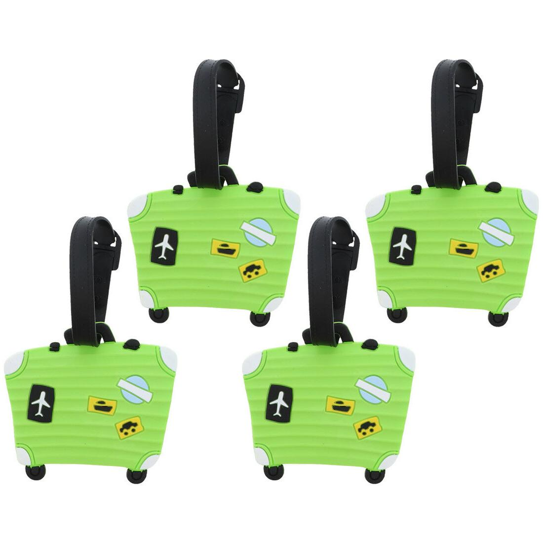 luggage tag silicone neon green suitcase kids