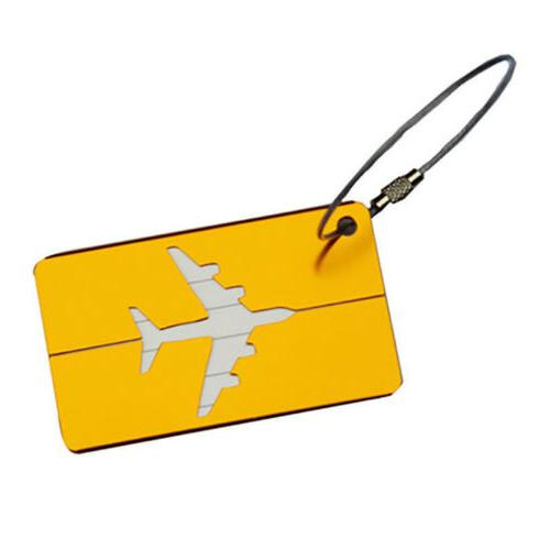 Luggage Travel Suitcase Bag Tags Address Label Holder