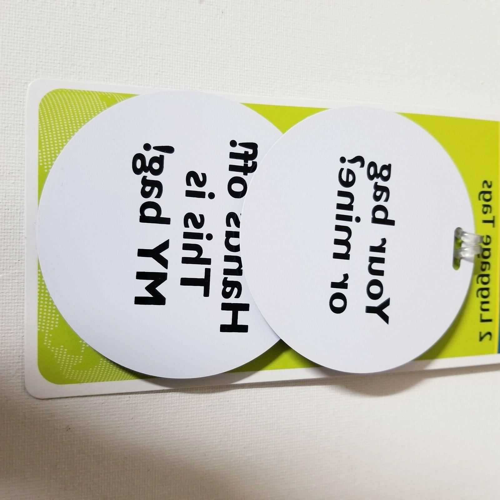 Luggage Tags Piece Set Funny Light New