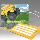 TagCrazy Luggage Tags For Kids, Big Wheels Design, Durable P