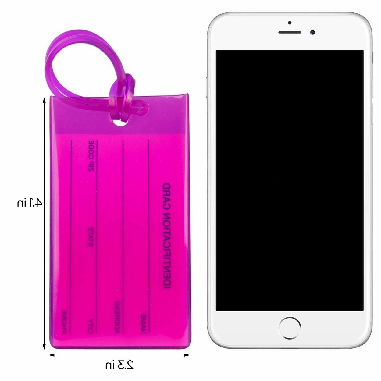 TravelMore Luggage Tags For Suitcases, Silicone Travel ID 7