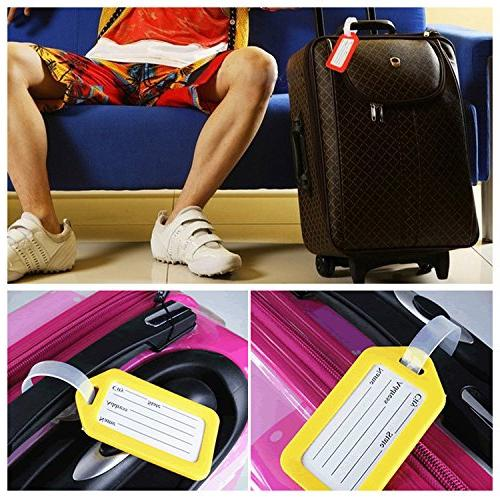BlueCosto Luggage Bag Labels - Pack