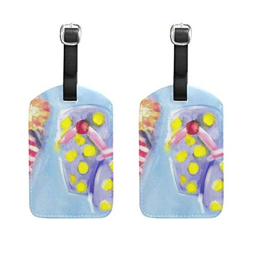 luggage tags summer slippers oil