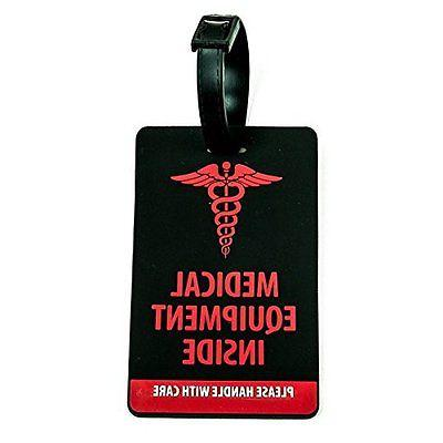 medical equipment luggage tag