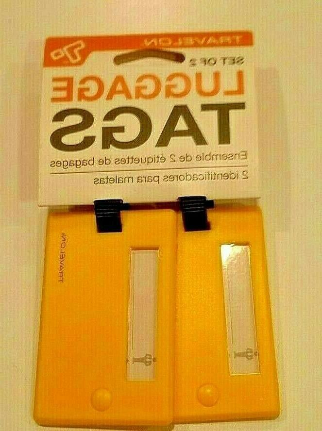 new luggage suitcase tags set of 2