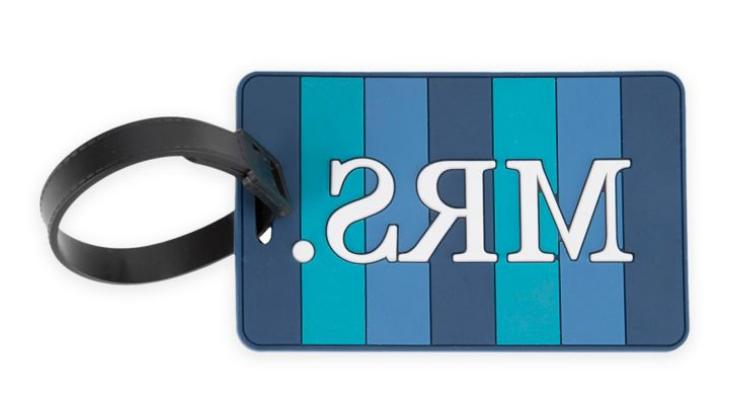 new mrs luggage tag in blue