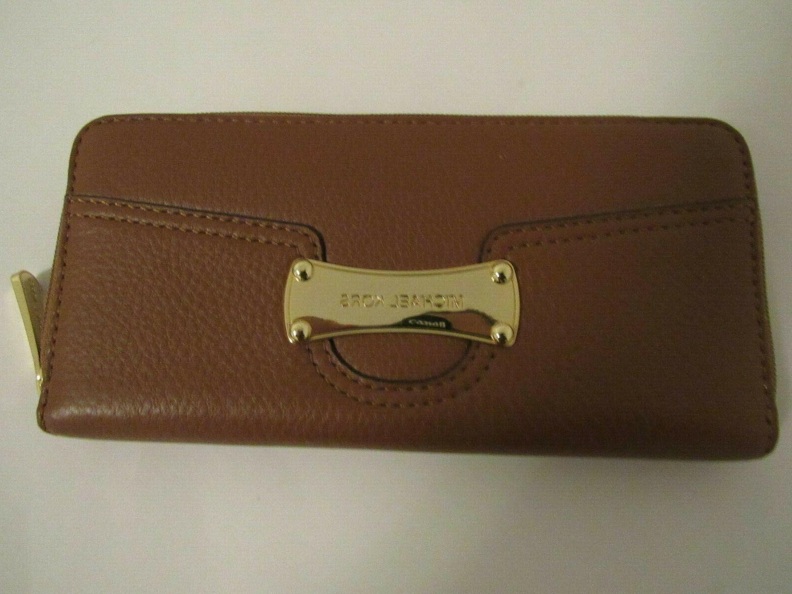 new no tag luggage color leather zip