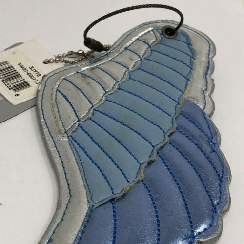 New leather Luggage Tag Blue Wing Name Tag