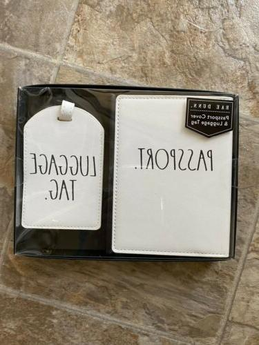 passport cover and luggage tag set black