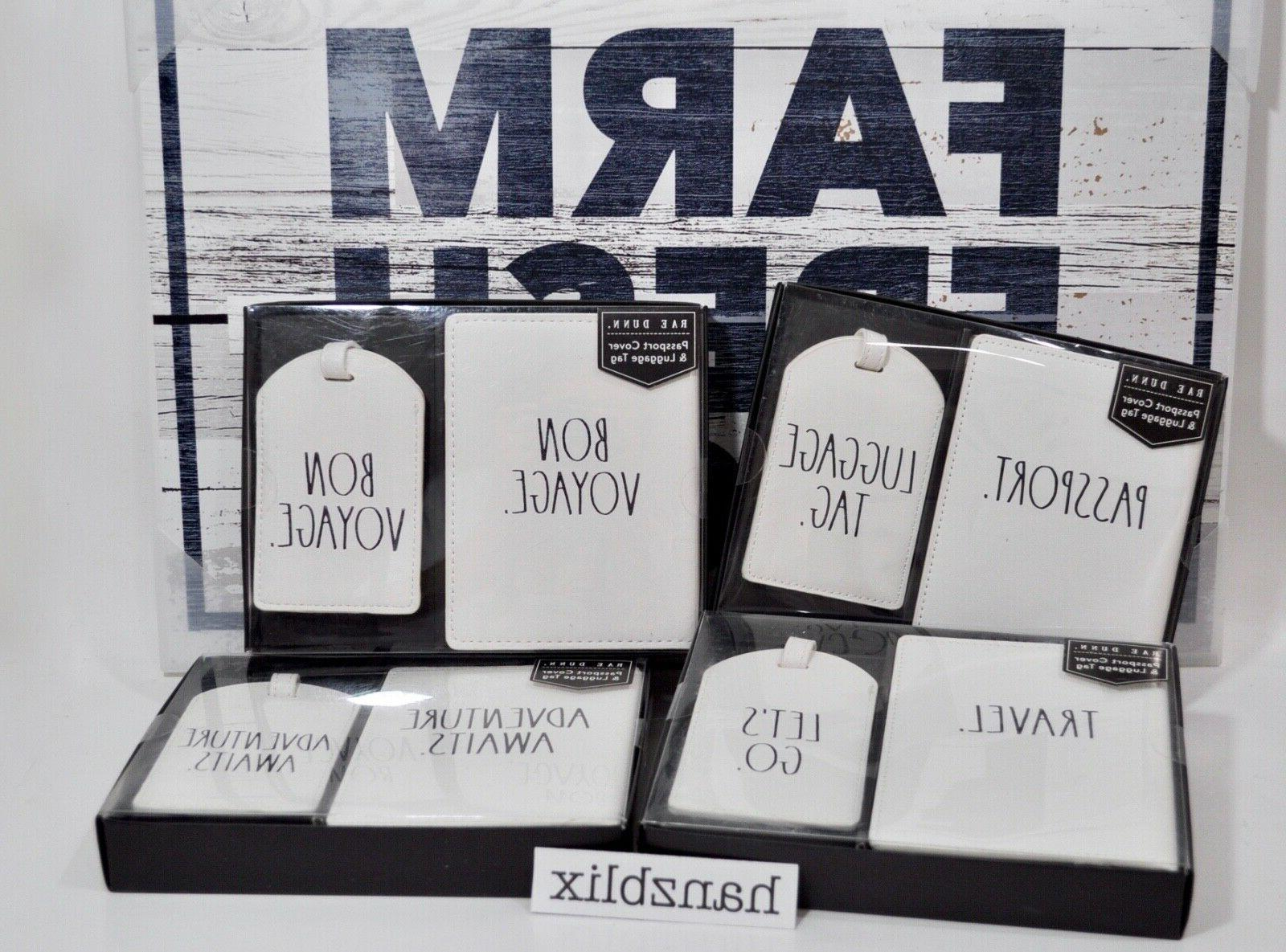 passport cover and luggage tag set bon