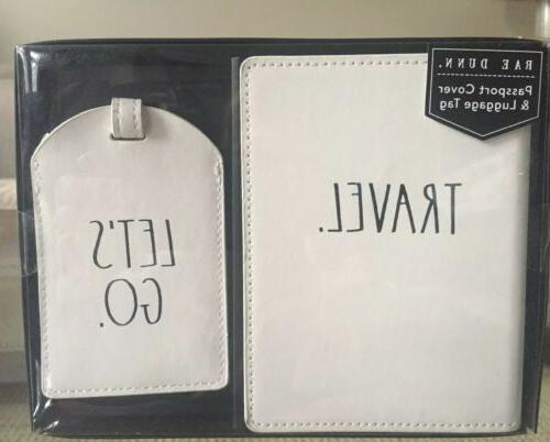passport cover and luggage tag set travel