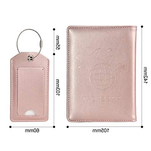 COCASES Holder Protection Leather Card Slots Pen Two Matching Luggage Set