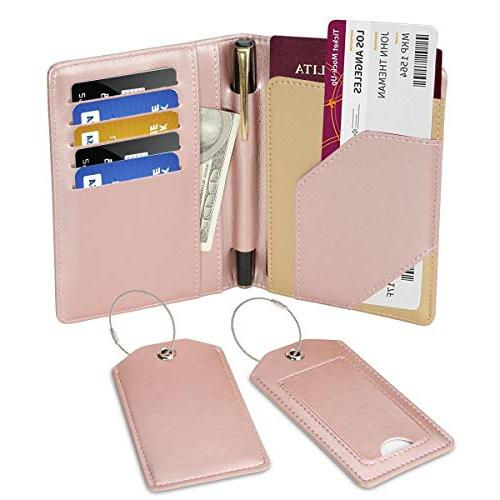 passport holder rfid protection pu leather card