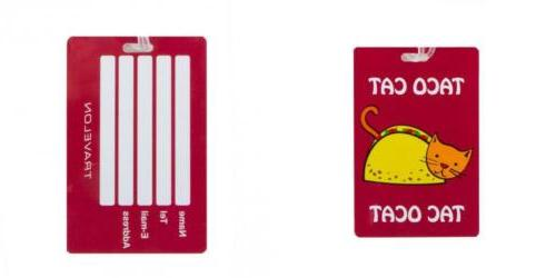 personal expression luggage tags taco cat