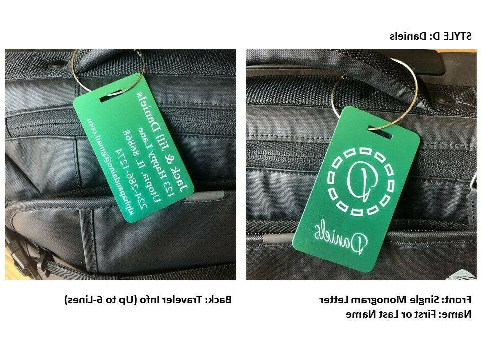 Personalized Tags Engraved Travel Bags