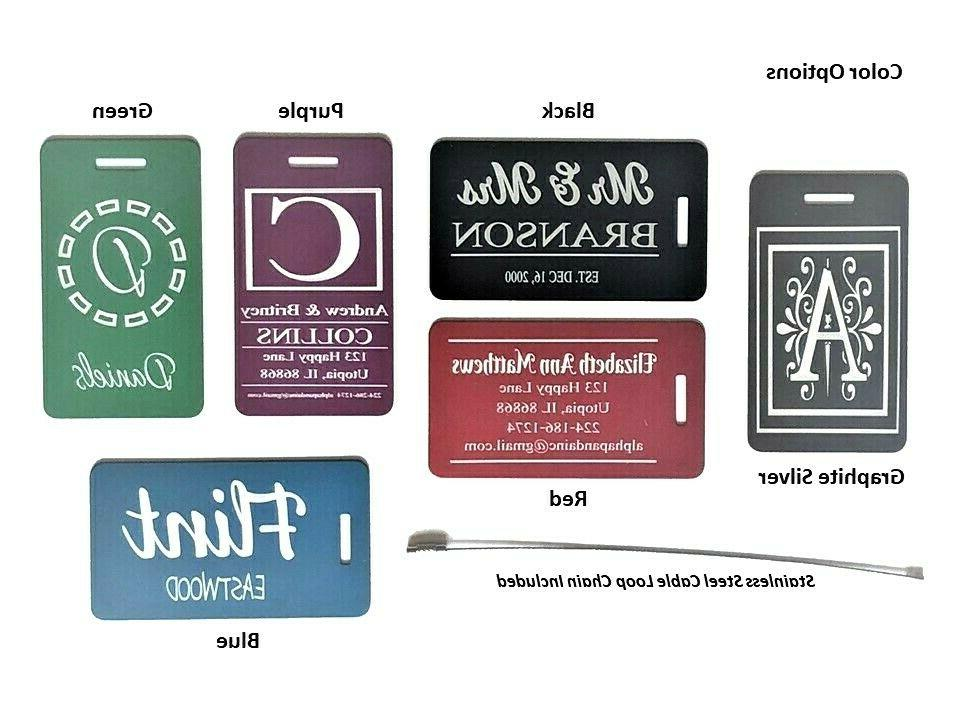 Personalized Luggage Tags Customized Engraved Sports Bags IDs