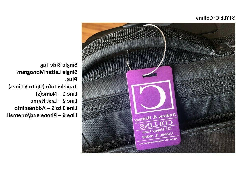 Personalized Tags Engraved Bags IDs