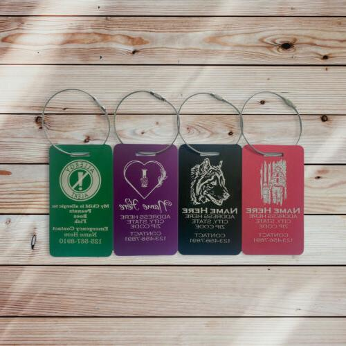 personalized luggage tags customized engraved travel accesso