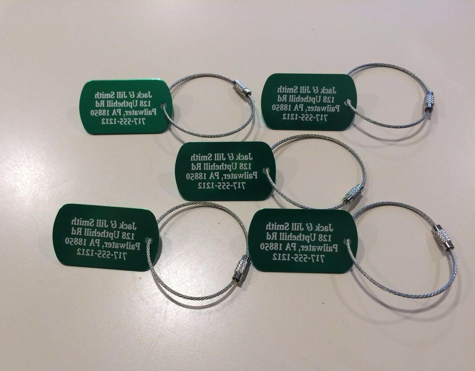 personalized metal luggage tags set of 5