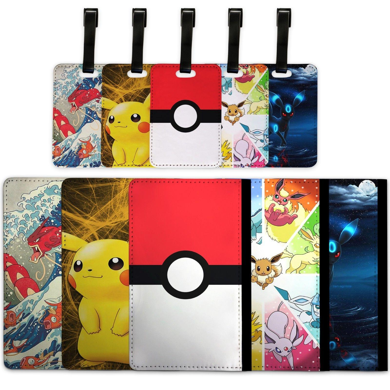 pokemon passport cover and luggage tag travel