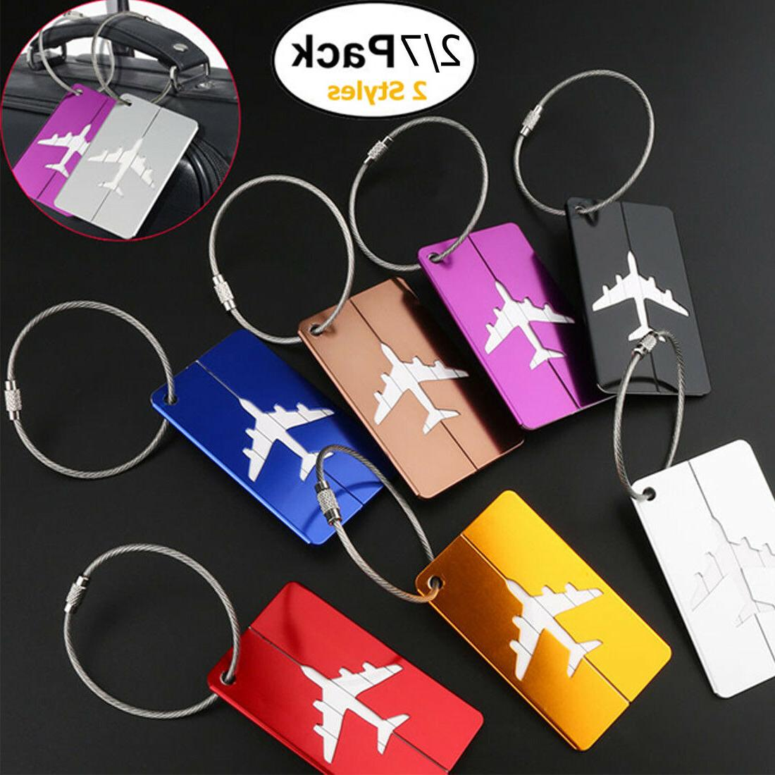 premium aluminium travel baggage suitcase luggage tag