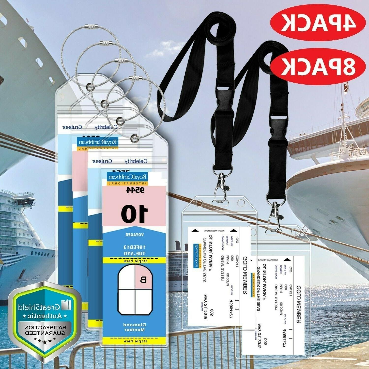 premium cruise luggage tag lanyard id holder