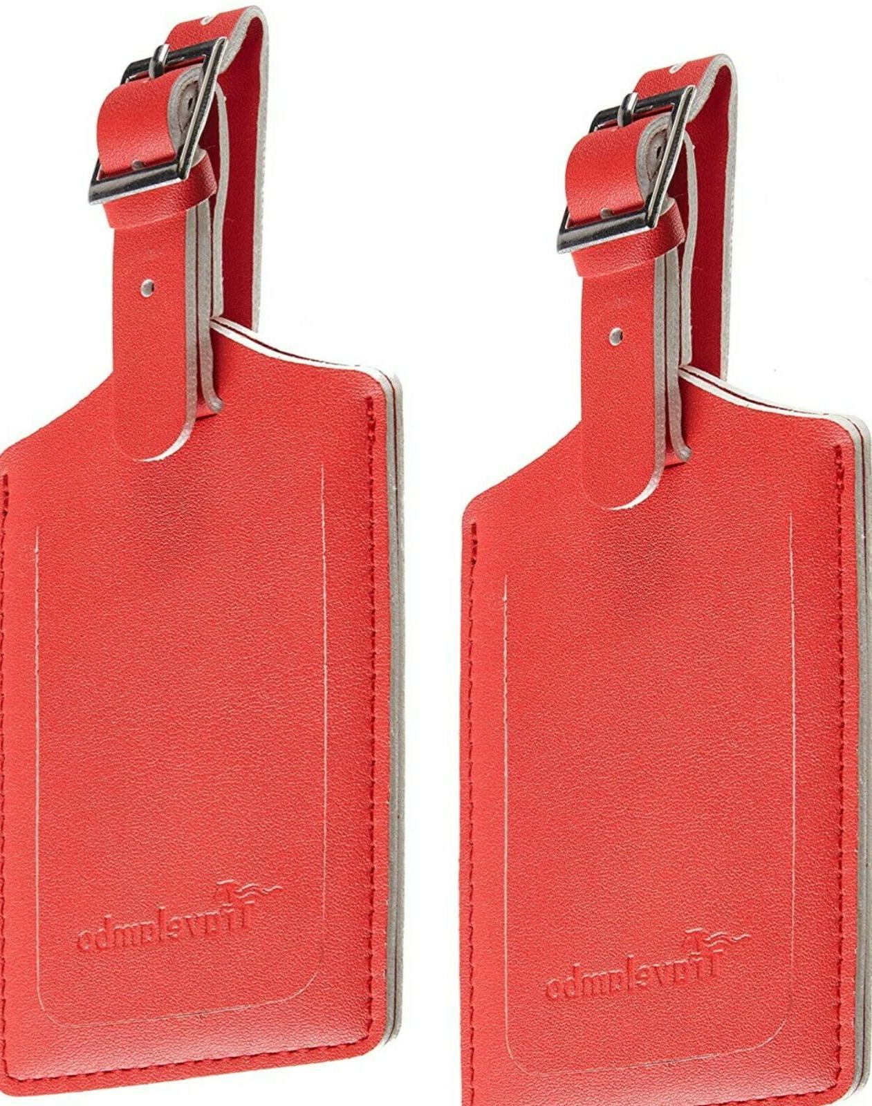 Red-Luggage Tags Protection Travel 2-Pack!!!