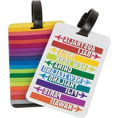 set of 2 luggage tags hot spots