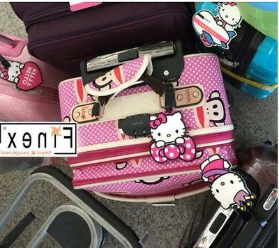 Finex of 4 Hello Kitty Travel On Bag Luggage ID Tag for Suitcases