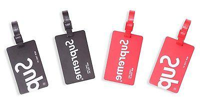 Finex Set Supreme New Silicone Luggage Tags Tag Red