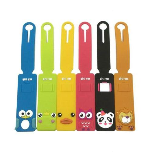 Set of 6 Animals Colorful Silicone Label
