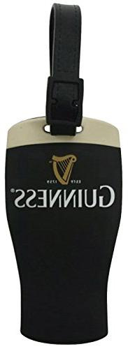 Guinness Signature Pint Black Rubber Luggage Tag - Baggage I