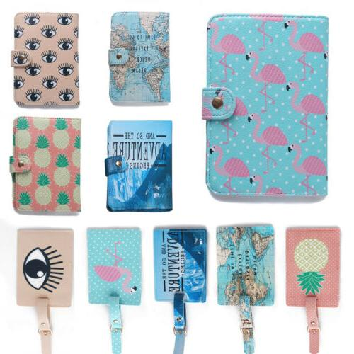 stylish flamingo pattern passport cover id bank