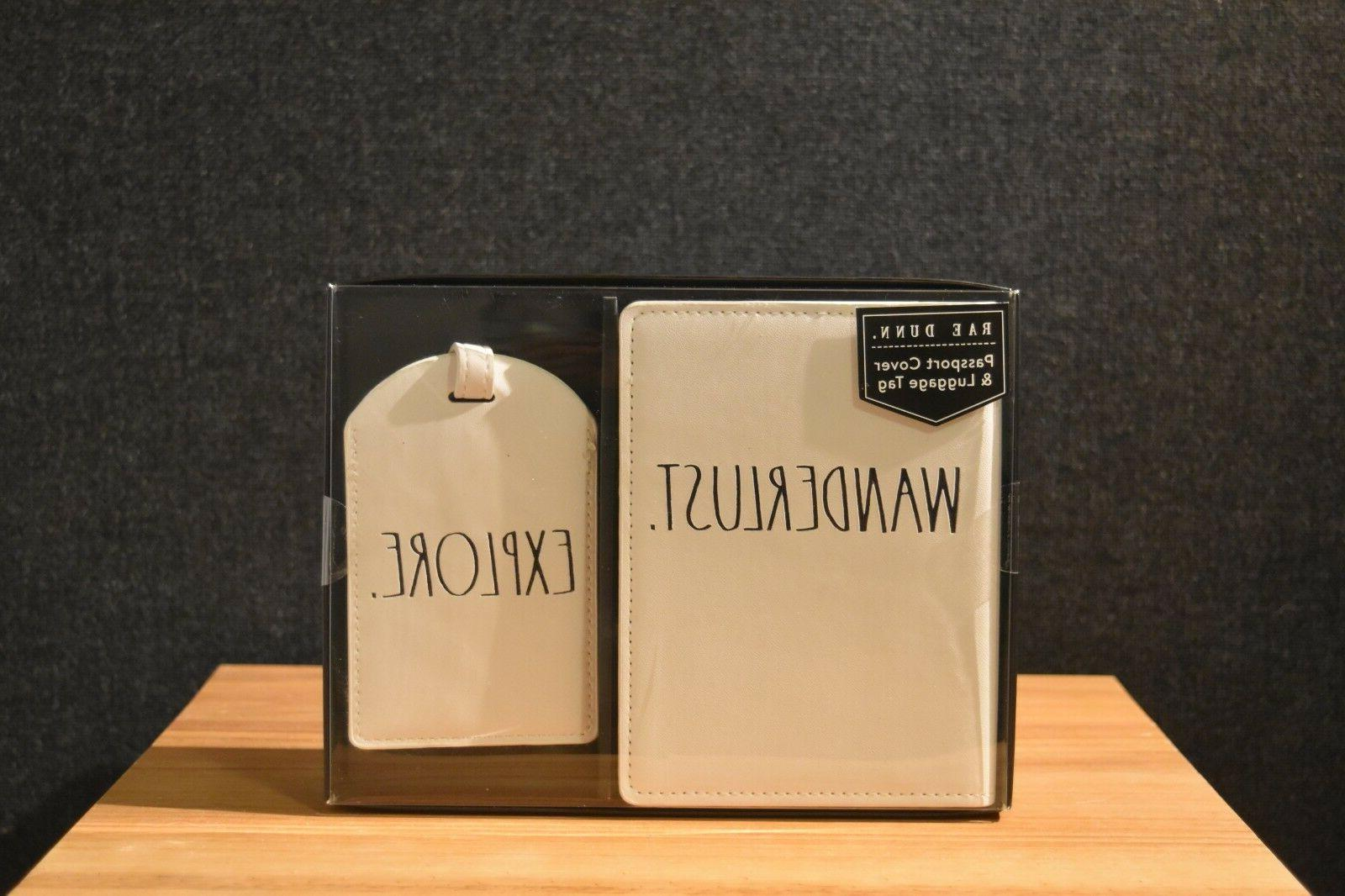 """Rae Dunn """"TRAVEL"""" Gift Set: Notebook and Cover & Tag"""