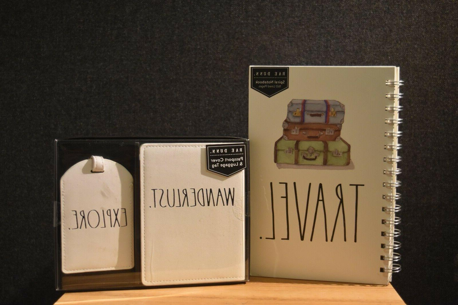 travel gift set notebook and passport cover