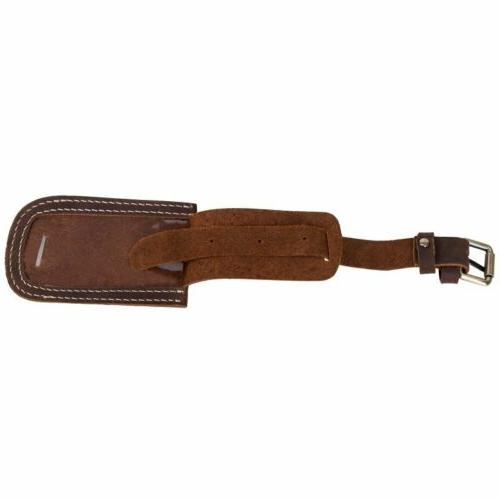 Travel Baggage Tag Name ID Leather Holder US