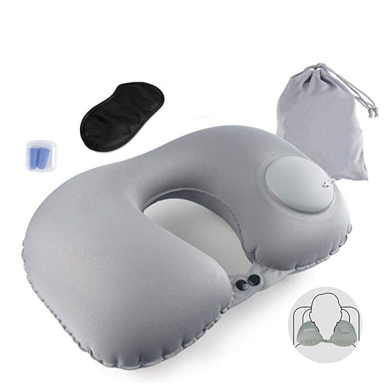 Travel Pillow Inflatable Foldable Trip Nap Air Cushion for Adult