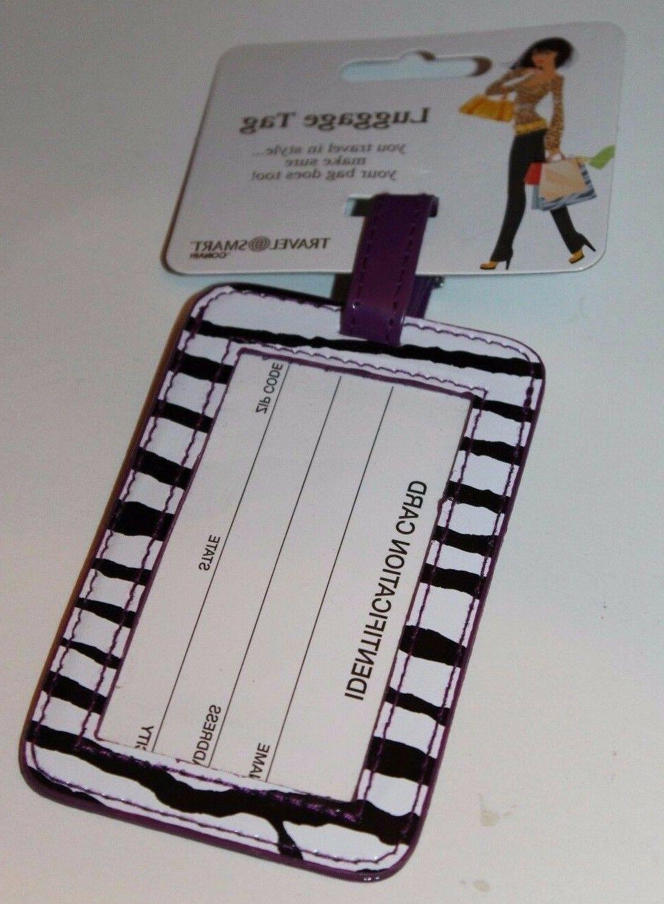 travel smart by travel luggage tag purple