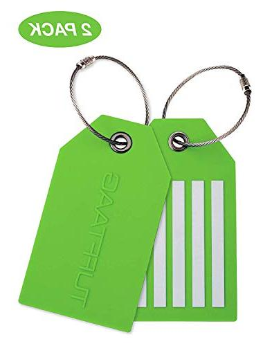 tufftaag personalized luggage tag set