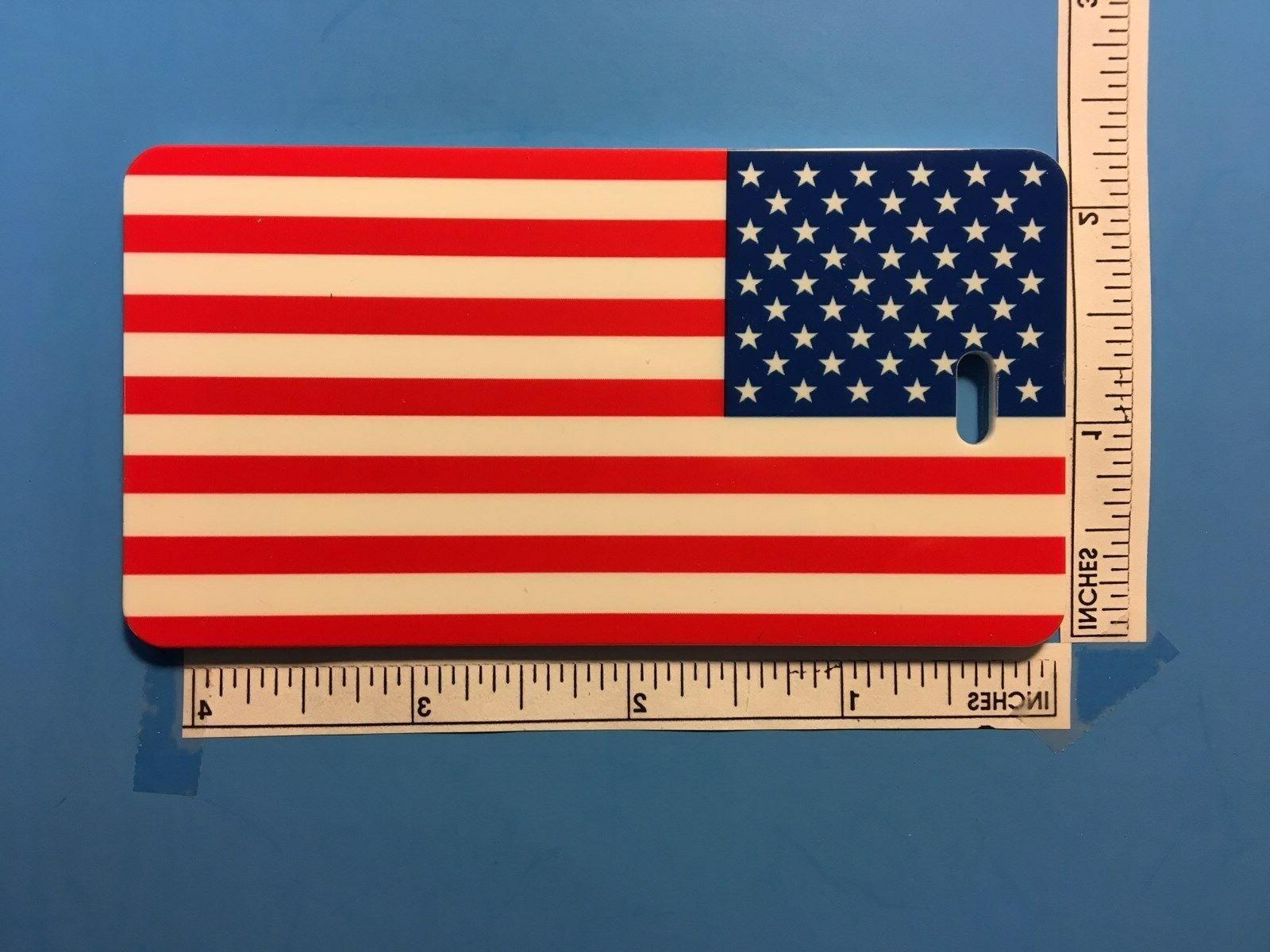 TWO FLAG FLAG TAG with INSERT & STRAP