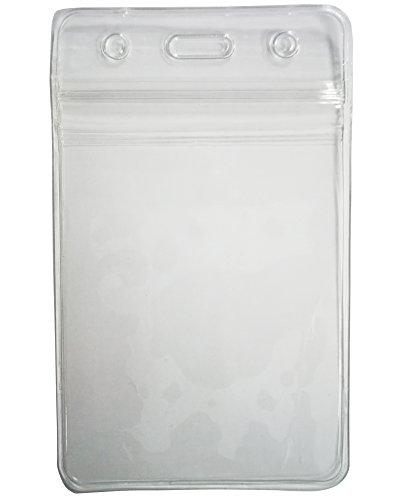 HOSL 100 Clear Plastic Vertical Tag Badge ID Holders