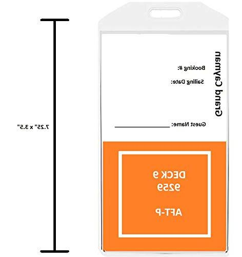 Wide Premium Cruise Luggage Tag PVC Cruise Tags