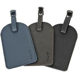 leather luggage tags 3 pack lt001