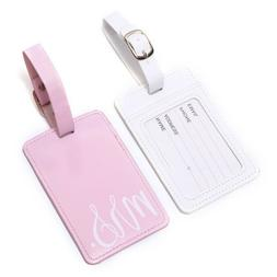 Leather Travel Accessories Luggage Tag Name ID Address Bag T