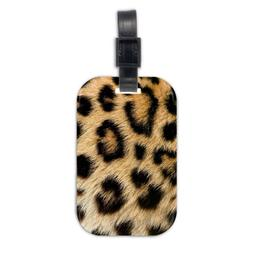 Leopard Print Wood Travel Luggage Tag Bag Tags Accessories