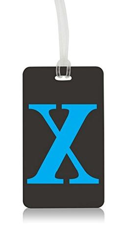 letter luggage tag x