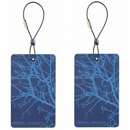 Lewis N. Clark Travel Green 2-Pack Luggage Tags, Blue, One S