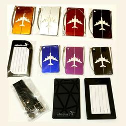 lot of 10 luggage tags aluminum rubber